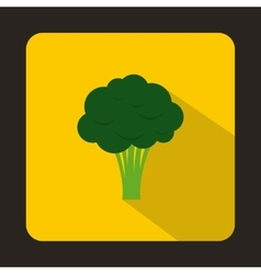 Broccoli icon in flat style vector