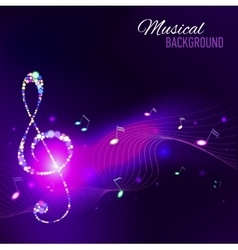 Abstract background with music notes vector