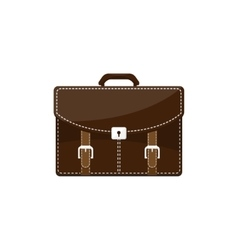 Business briefcase in a flat style suitcase bag vector
