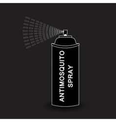 Aerosol spray spray isolated on black vector