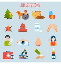 Allergies icon set vector