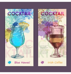 Artistic decorative cocktail poster vector