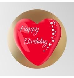 Birthday cake isolated on background vector