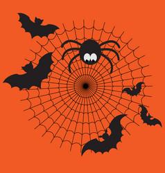 Black and orange cartoon isolated spider vector