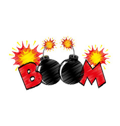 Boom explosive pop art style vector