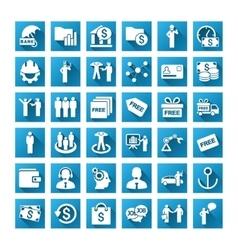 Business gradient icon set vector