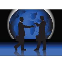 business handshake vector image vector image