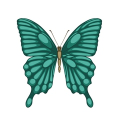 butterfly isolated on white with watercolor effect vector image vector image