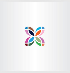 Colorful leaf logo business icon symbol sign vector
