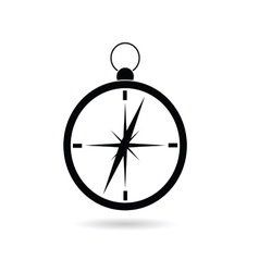 compass black silhouette vector image