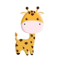 cute giraffe isolated icon vector image vector image