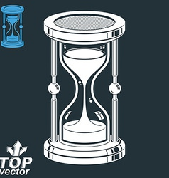 Eps8 highly detailed sand-glass antique classic 3d vector