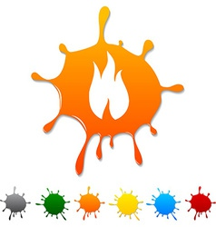 Fire blot vector image
