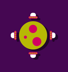 Flat icon design collection flying saucers around vector