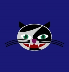 Funny cat head image vector