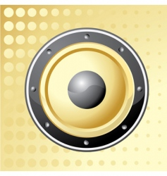 golden speaker vector image vector image