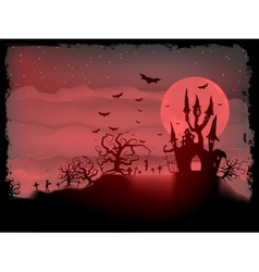 Halloween poster with zombie eps 10 vector