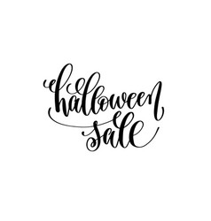 halloween sale hand lettering holiday inscription vector image vector image