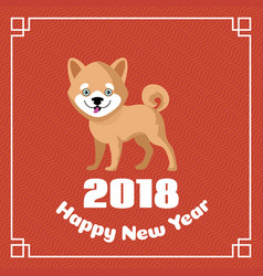 Happy chinese new year 2018 greeting vector