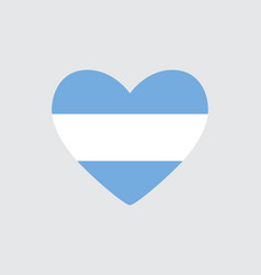 Heart in colors of the argentine flag vector