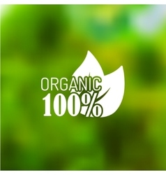 icon for organic food vector image