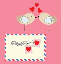 Loveletter birds vector image vector image