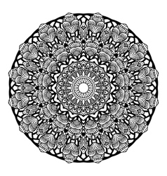 Mandala Round Zentangle Ornament Pattern vector image vector image