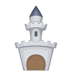 Medieval royal castle icon cartoon style vector