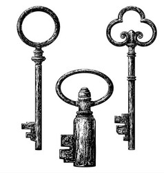 old style key vector image vector image