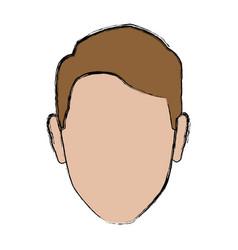 Profile man male avatar face vector