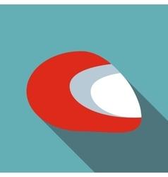 Racing helmet icon flat style vector
