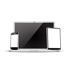 Set laptop tablet and mobile phone vector image vector image