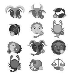 set of colorless astrology water air earth and vector image vector image