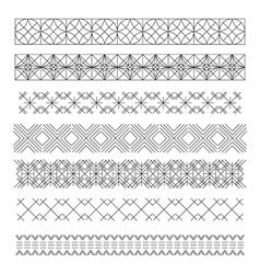 Set of line geometric hipster vintage design vector