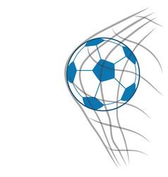 Soccer ball with net vector