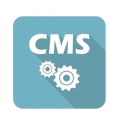 Square cms icon vector