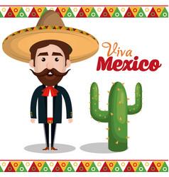 viva mexico poster icon vector image