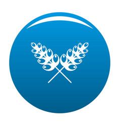 Wheat icon blue vector