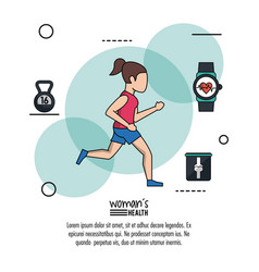 White background infographic woman health with vector