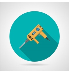 Yellow drill flat icon vector image