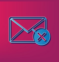 mail sign with cancel mark vector image