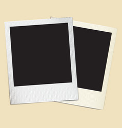 Paper photo frames in retro style vector