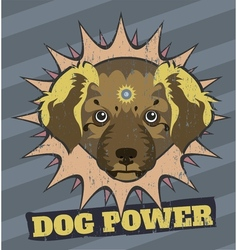 Dog power vector