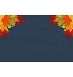 Maple leaves on grey chalkboard vector