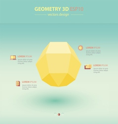 Sphere geometry abstract 3d infographic vector