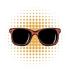 Sunglasses comics icon vector