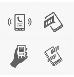 Smart phone icons on white vector