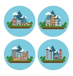 Nature city design vector