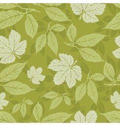 Seamless floral pattern with leafs vector