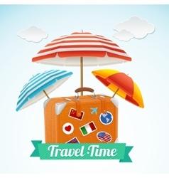 Travel concept banner card vector